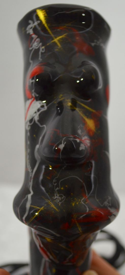 Superzüngler poppart rot und weiss auf schwarz